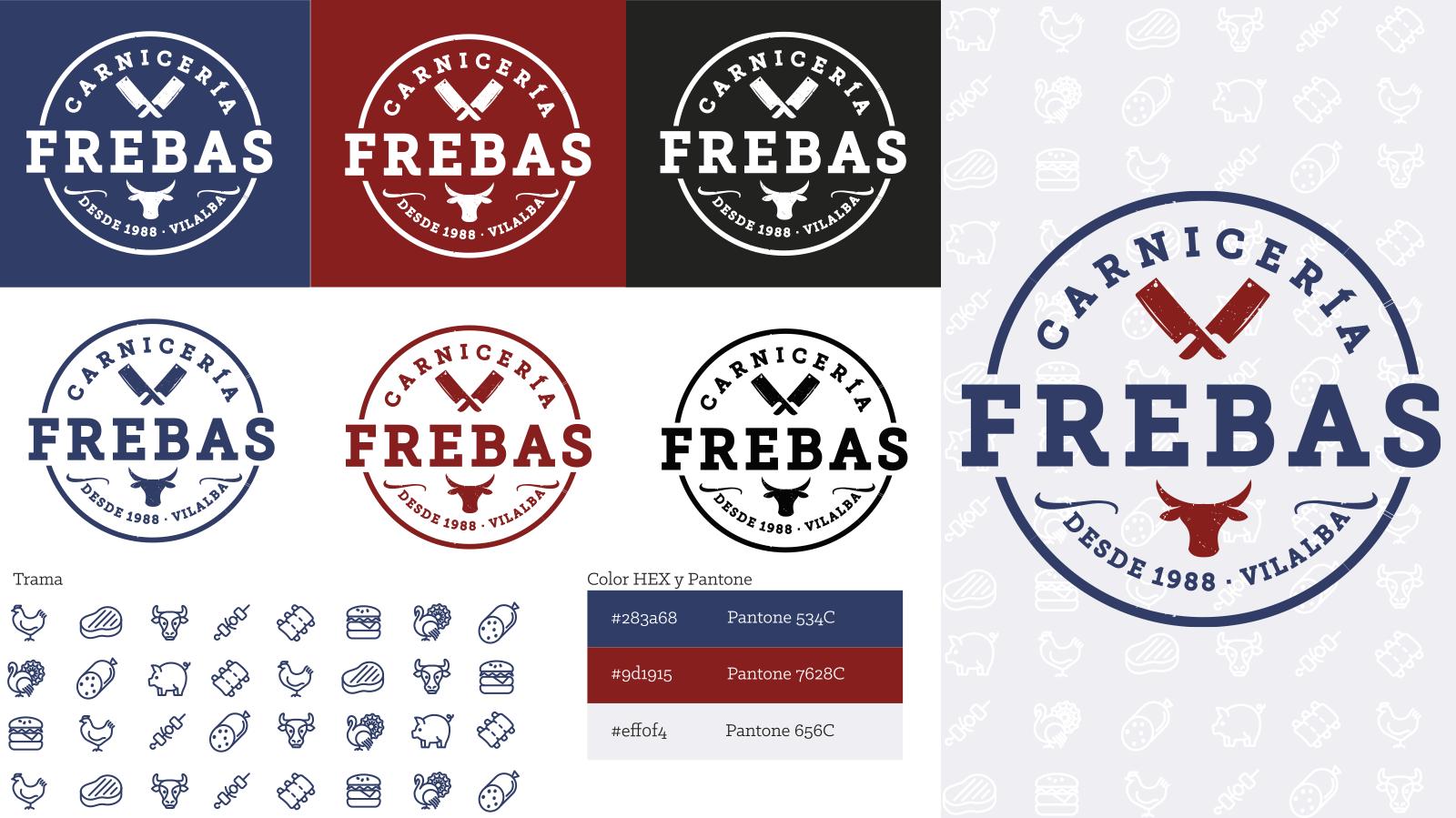 Deseño identidade corporativa Carnicería Frebas
