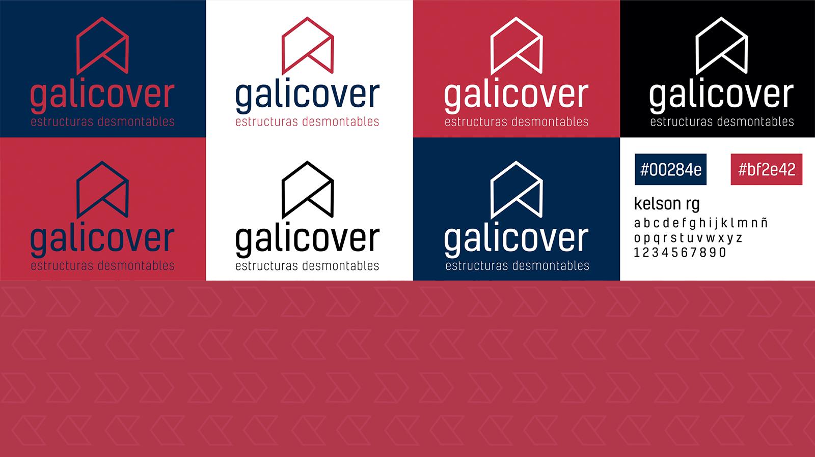 Deseño identidade corporativa Galicover