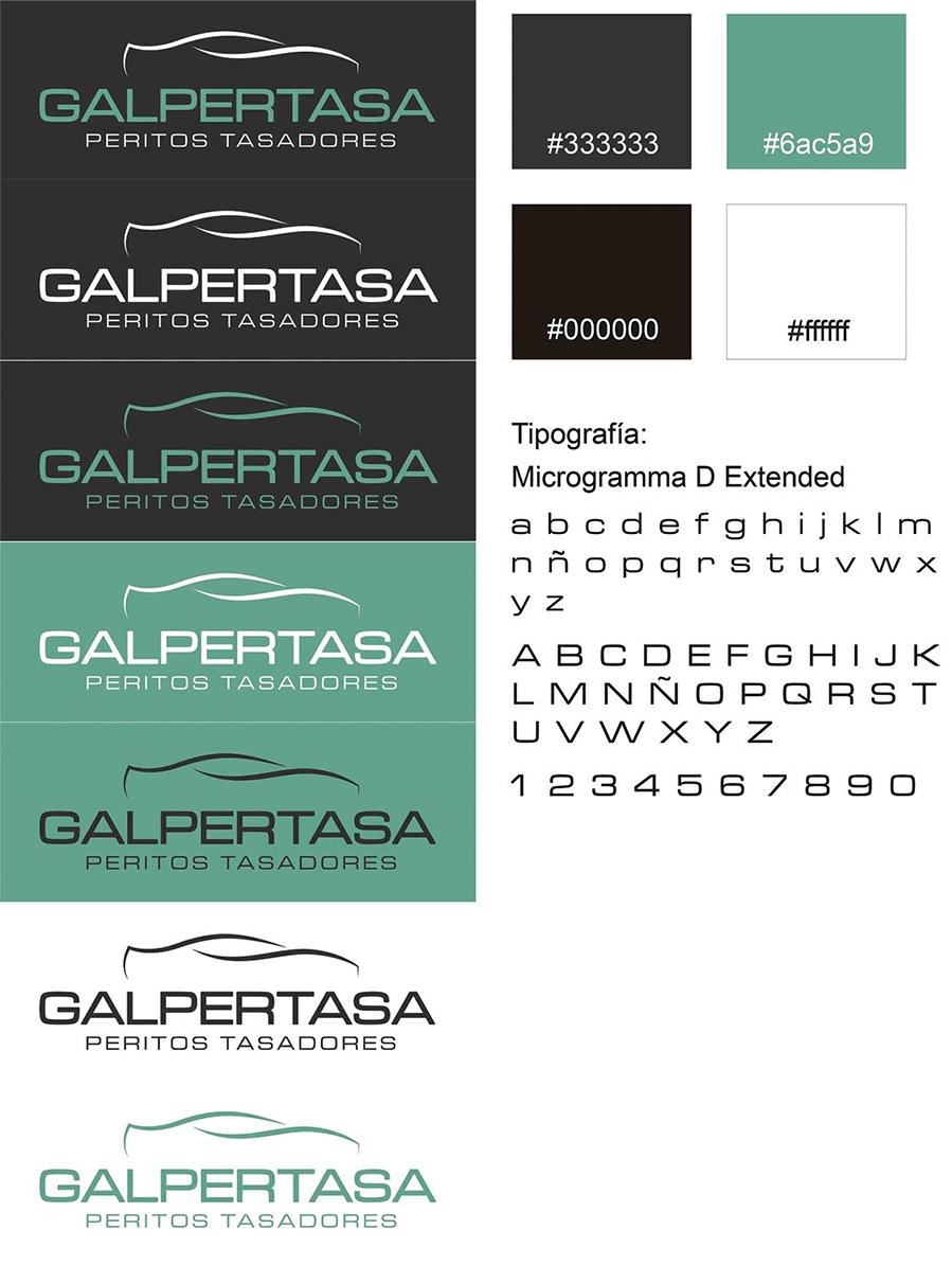 Deseño identidade corporativa de Galpertasa