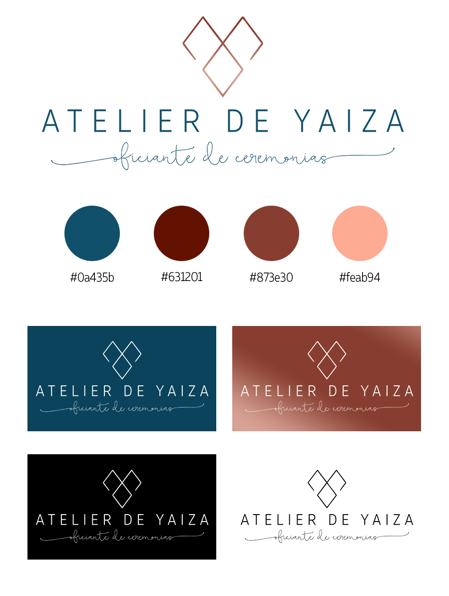 Deseño identidade corporativa Atelier de Yaiza