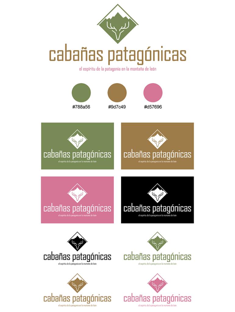 Diseño identidad corporativa Cabañas Patagónicas