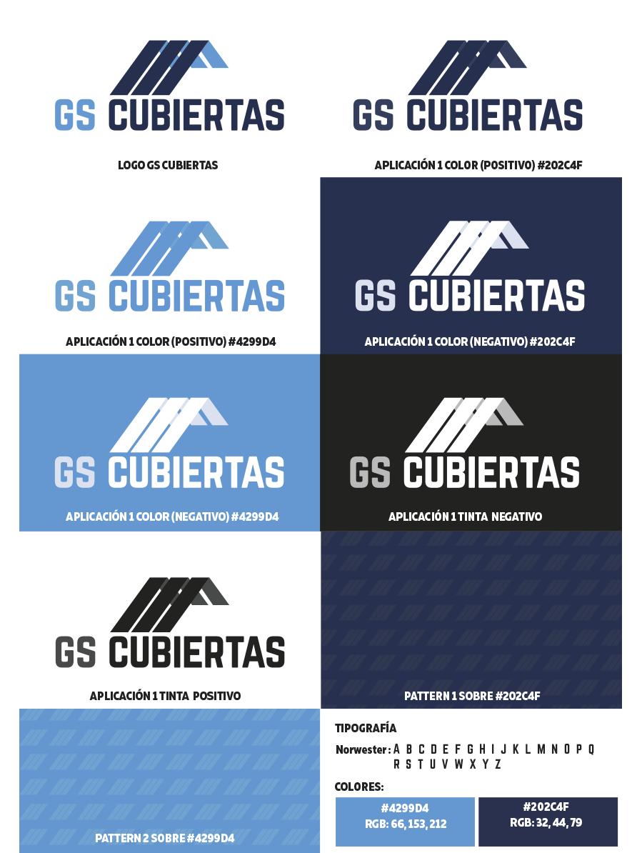 Deseño identidade corporativa GS Cubiertas