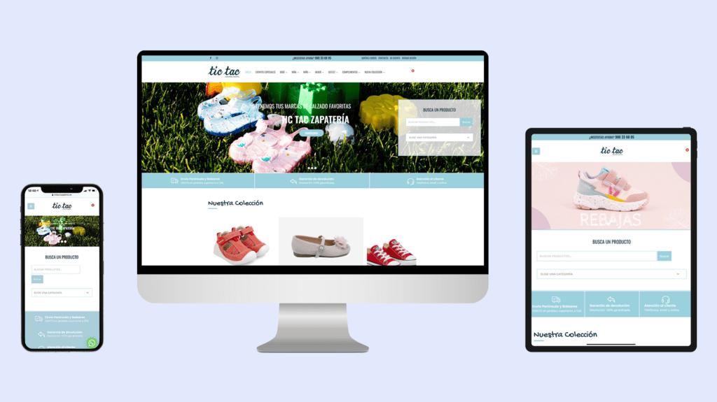 Diseño tienda online Tic Tac Zapatería