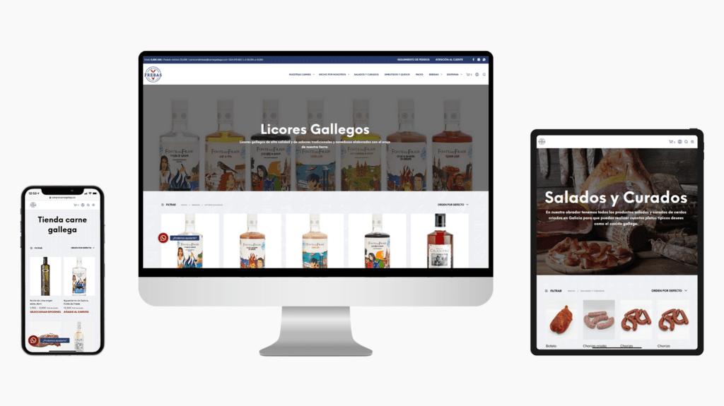 Diseño Tienda Online Carnicería Frebas