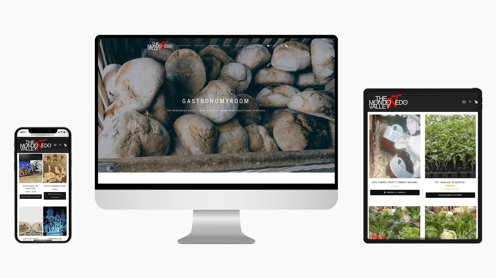 Diseño tienda online The Mondoñedo Valley