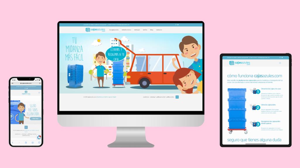 Diseño web CajasAzules