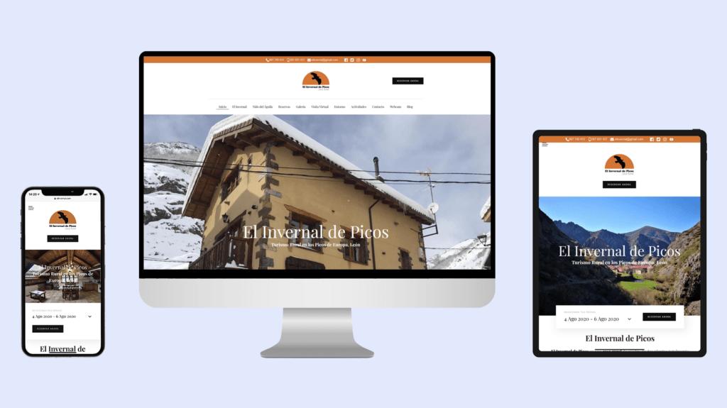 Diseño web El Invernal de Picos