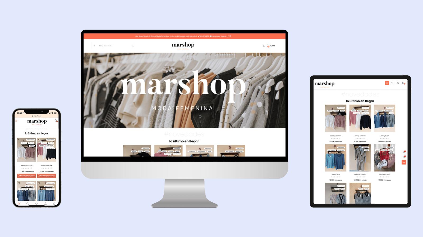 Diseño tienda online Mar Shop